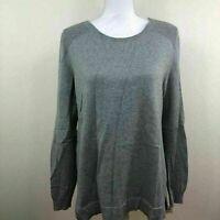 Karen Scott Womens Sweater Crewneck Pullover Gray Sz Medium