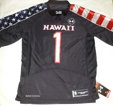 University Of Hawaii Under Armour Wounded Warrior Size 4XL Jersey NEW WITH TAGS