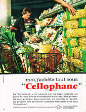 PUBLICITE ADVERTISING  1962   CELLOPHANE   emballage alimentaire