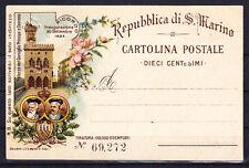 SAN MARINO 1894 - STATIONERY POSTCARD MICHEL P16 II UNUSED