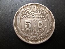 Égypte 1861 5 Piastres pièce de monnaie 0.8330 argent en bon état
