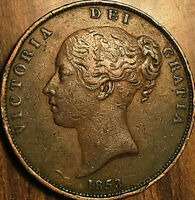 1853 GREAT BRITAIN VICTORIA PENNY COIN