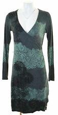 DESIGUAL Womens Sheath Dress Size 10 Small Green  IY07
