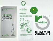 Vorwerk Folletto - Sacchetti 6 6 Filtrelli Premium per VK 140/150