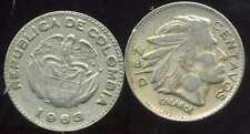 COLOMBIE 10  diez centavos   1963