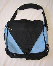 LL Bean Satchel Messenger Computer Bag - Light Blue & Black, Mild Wear Durable