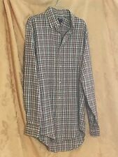 Lands' End Multi-Plaid Shirt Hipster Business Casual Size Small 14-14 1/2 - NWT