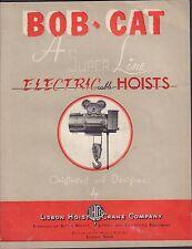 Bob-Cat A Super Line Electric Cable Hoists Advertisement Catalog 010417DBE2