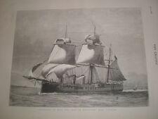 Duke of Edinburgh departs on HMS Sultan 1876 print ref V