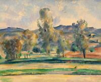 Autumn Landscape Paul Cezanne Painting Print on Canvas Poster Reproduction Small