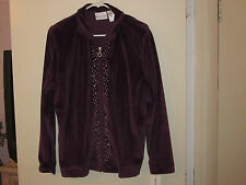 Alfred Dunner Zipper Front Jacket Amethist With Embellishment (Cool Jewels) (12)