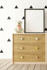 Triangle wall stickers , wall decals - choice of colour. 75mm . Set of 48