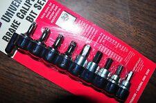 "Universal Brake Caliper Bit SetT-40,45,47,50,1/4"",3/8"",7mm,8mm,10mm Lisle 29150"