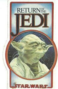 Vintage Star Wars Fanclub Sticker Return of the Jedi  Bantha Tracks Lucasfilm NB