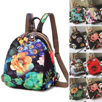 Convertible Floral Nylon Small Backpack Rucksack Sling Bag Chest Pack Purse