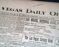 Rare & Early LAS VEGAS NM New Mexico Territory Pre Statehood 1893 Old Newspaper