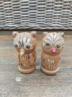 Vintage Salt & Pepper Novelty Set  Salt & Pepper Wooden Owls