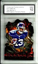 2014 Topps Forged By Fire Die-Cut Odell Beckham Jr.Rookie Gem Mint 10 N Y Giants