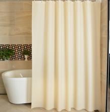 Shower Curtain Bathroom Bath Shower Decoration Solid Color Hook Rings 180*180cm