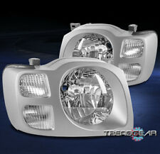 FOR 2002 2003 2004 XTERRA SE XE SUV REPLACEMENT HEADLIGHTS HEADLAMPS LAMP CHROME