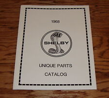 1968 Ford Mustang Shelby Cobra Unique Parts Catalog Brochure 68