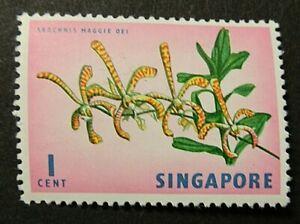 SINGAPORE 1962 SG63 1c. ORCHID -  MNH
