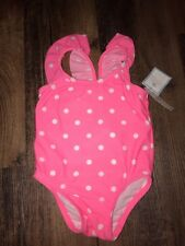 Baby Gap 0-6 Months Swimsuit Pink Polka Dot NWT