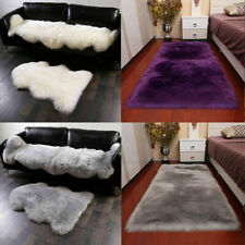 Multi Shapes Faux Fur Rug Chair Cushion Pad Cover Soft Car Seat Office Sofa Mat