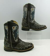 Ladies George Davis Brown with Wing Detail Cowgirl Boots Size : 7-8?
