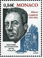 monaco ca 2006 nobel price 1957 writer albert camus litterature 1v  mnh