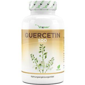 Quercetin - 120 Kapseln á 500 mg - Japanischer Schnurbaum-Blütenextrakt - Vegan