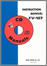 Yaesu FV-107 VFO CD OWNER'S MANUAL+ Schematic, Ham Radio Book