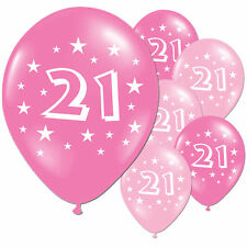 40 Fuschia and Pink 21st Birthday Party Balloons