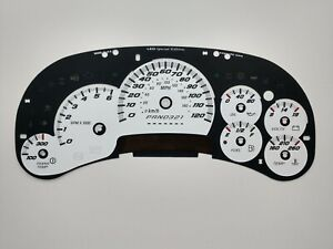 US Speedo SS Style LED Edition White Gauge Face 2006 2007 2500 Gas GM Clusters