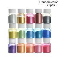 20 Color Epoxy Resin Metallic Pearl Mica Pigment Powders Soap Nail Colorant Dye
