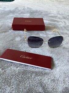 Authentic Rare Women's Cartier Sunglasses 6475476 With Box And Papers