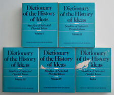Dictionary of the History of Ideas Philip P Wiener 1973 First Edition Set of 5