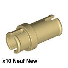 Lego Technic 10 connecteurs beiges Neufs / Tan pins 3/4 NEW REF 32002