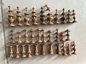 Anciennes Pièces Jeu d'échecs Régence bois
