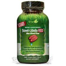 Irwin Naturals Steel-Libido Red for Men Max Blood Flow  - 150 Liquid Soft Gels
