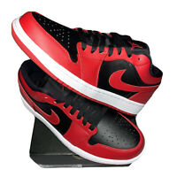 Jordan 1 Low Reverse Bred Mens Size 8.5 553558-606 NEW Deadstock 100% Authentic