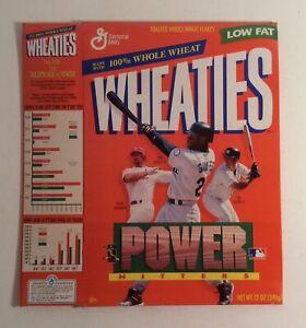 Power Hitters 1998 Wheaties Box McGwire Griffey Martinez Empty Flat MLB Baseball