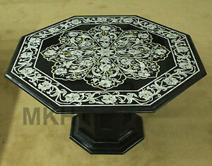 Living Room Center Table   Handmade Black Marble Mother Of Pearl   Free Shipping