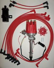 Small Cap CHEVY CORVETTE Tach Drive RED HEI Distributor+Black Coil+wires under