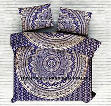 Indian Gold Ombre Mandala Duvet Quilt Cover King Size Throw Handmade Doona Cover