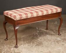 Queen Anne style mahogany double piano stool with lift top cushion an. Lot 387