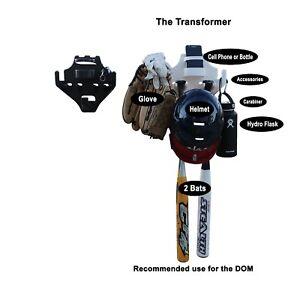 DUGOUT ORGANIZER BAT HELMET GLOVE HOLDER - TRANSFORMER DOM BLACK