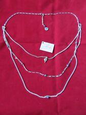 Bibi Bijoux Triple Grey Bead Necklace - Bnwt
