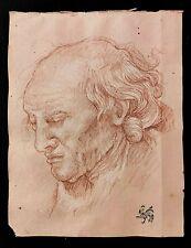 OLD MASTER DRAWING Sanguine 17th CENTURY Original ITALIAN CHALK ! Ancien Dessin