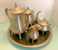 Vintage Towle Pewter Coffee 5 piece set including Tray